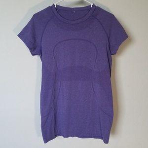 Lululemon Purple Run Swiftly Short Sleeve Top